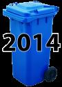 Abfallkalender Mittelstrimmig 2014